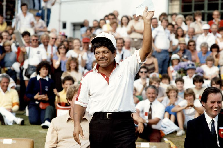 Lee Trevino after the 1983 Open Championship played at Royal Birkdale Golf Club