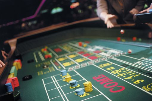 Playing craps at a casino