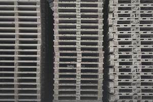 Vast stacks of pallets