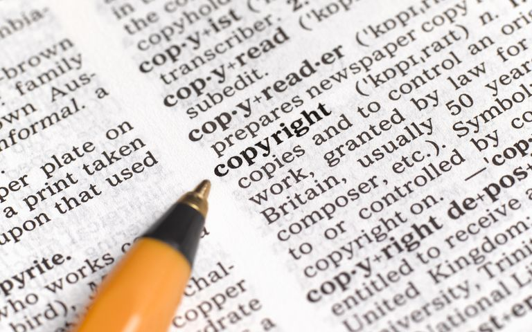The definition of Copyright in a dictionary