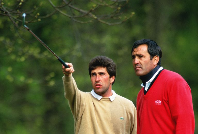 Jose Maria Olazabal and Seve Ballesteros in 1994
