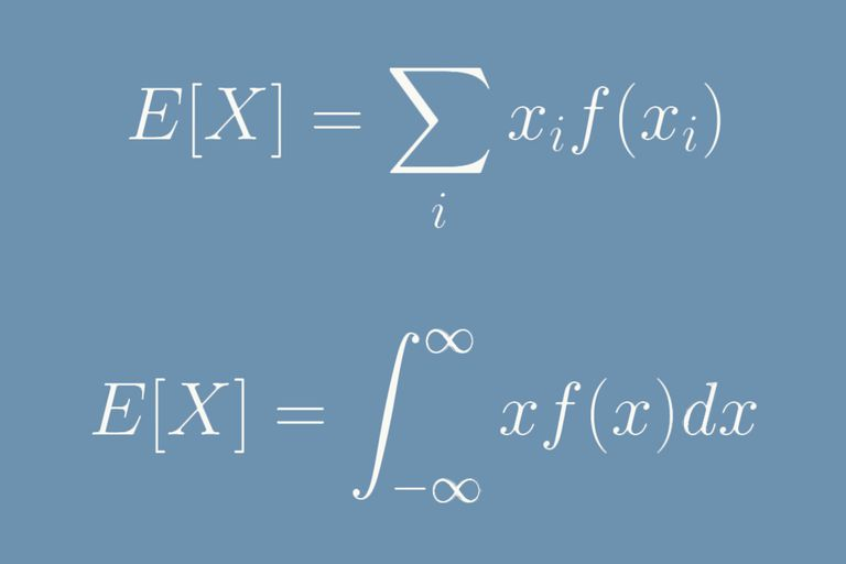 Formula for expected value