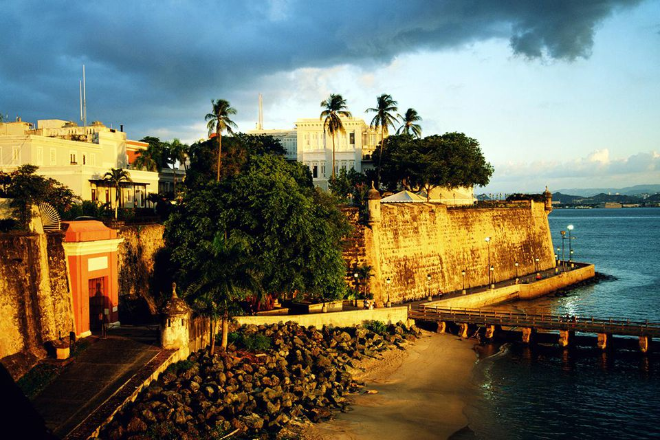 Puerto Rico, San Juan, San Juan City Gate, elevated view
