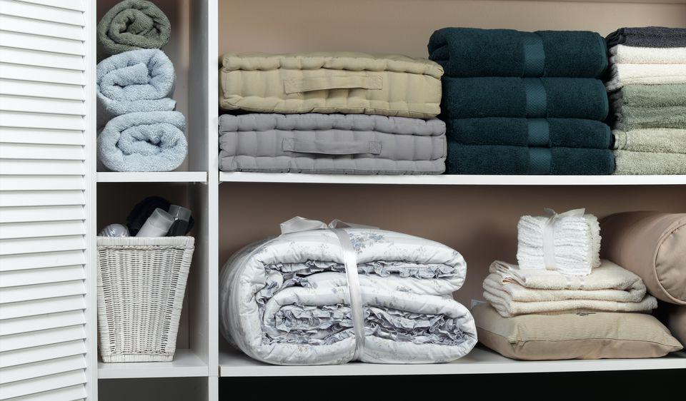Linen closet electric blanket