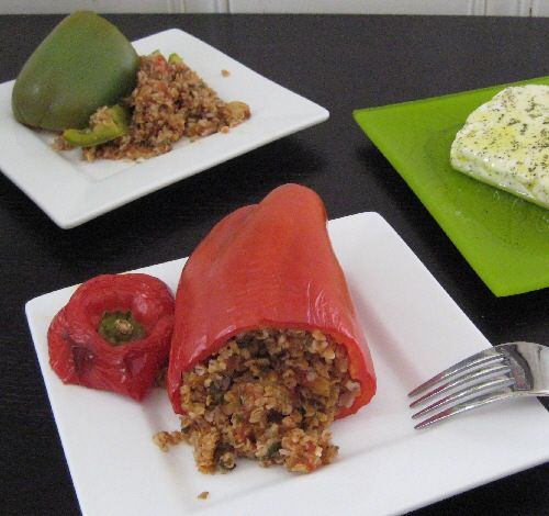 Photo of Stuffed Bell Peppers with Bulgur and Basil