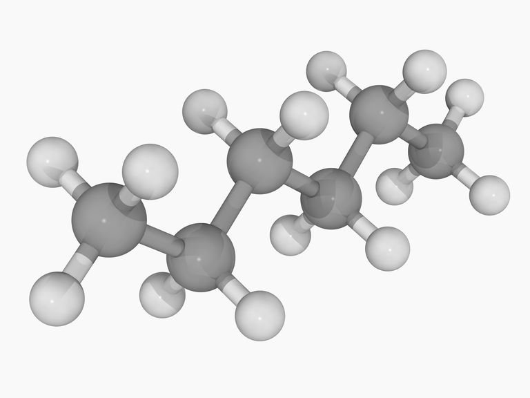 This is the chemical structure of hexane. The condensed formula is CH3(CH2)4CH3.