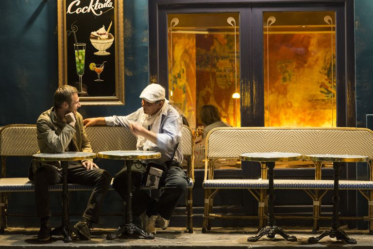 Two men in French cafe