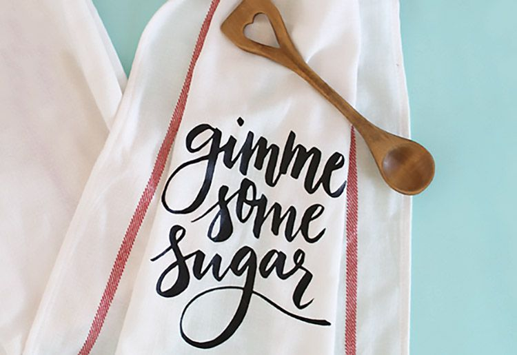 DIY Gimme Some Sugar Dish Towel