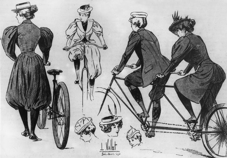 Women Cyclists, from an 1894 magazine