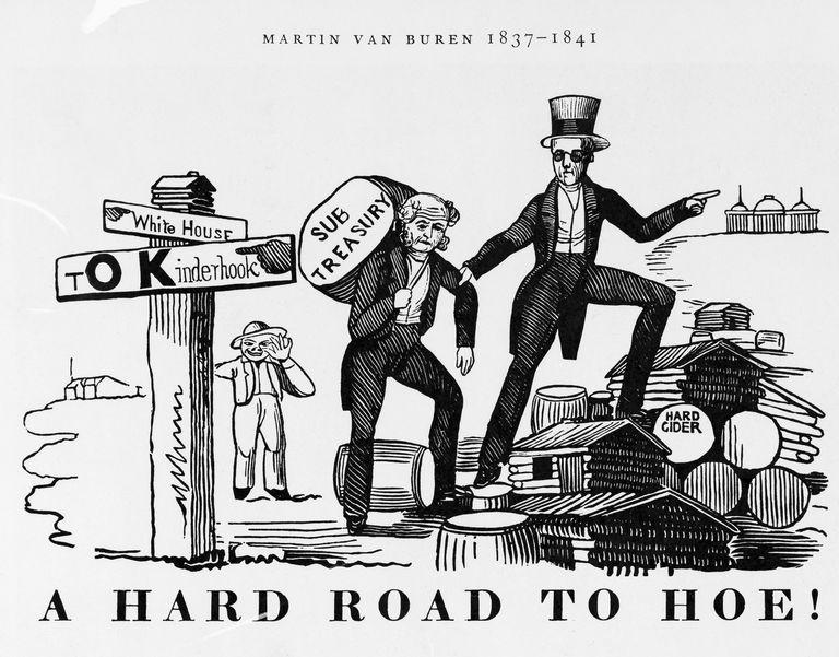 A Hard Road to Hoe! Political Cartoon