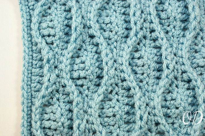 Double Wave Crochet Stitch Pattern