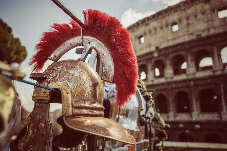 Roman Centurion Soldier Helmets and the Coliseum