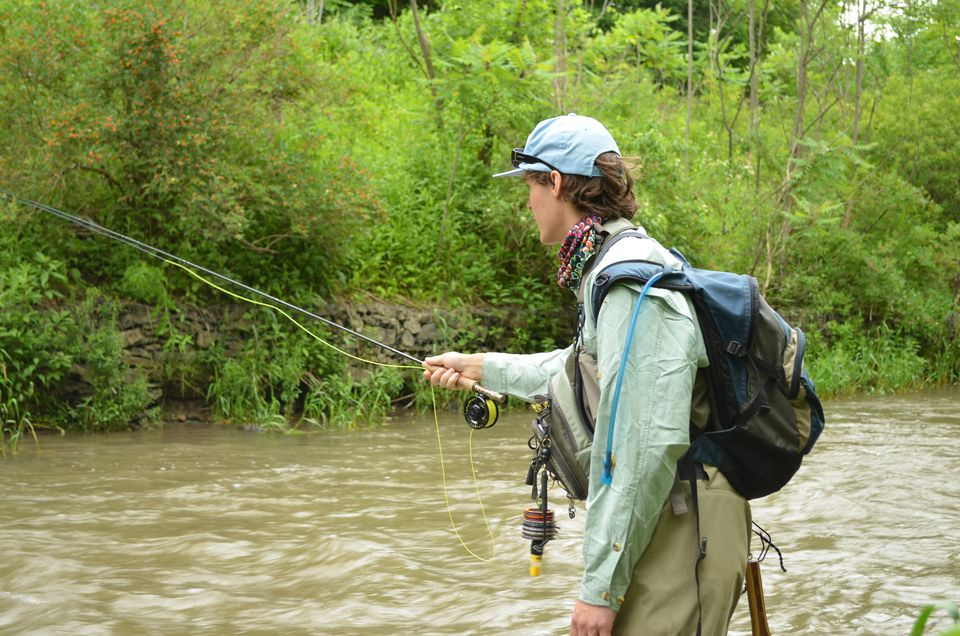 A 5-weight fly rod