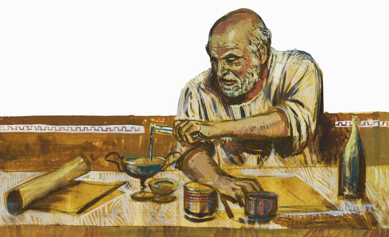Portrait of Archimedes (Syracuse, 287 BC-Syracuse, 212 BC), mathematician and physicist.