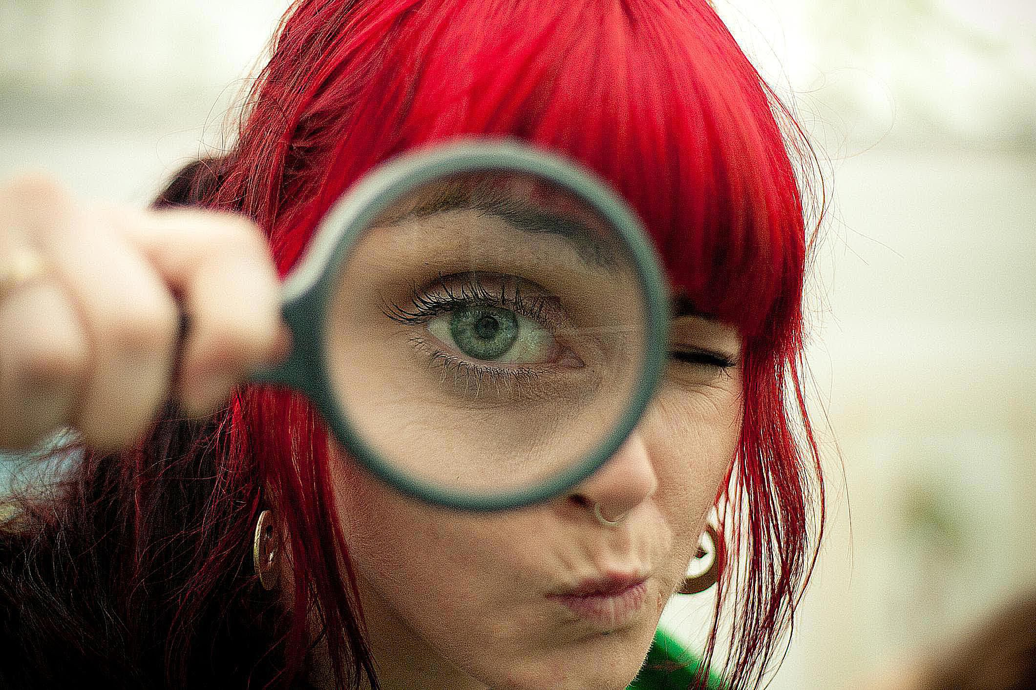 Qualitative Research  Definition And Methods A Woman Looking Through A Magnifying Glass Represents Interpretive  Sociology Which Focuses On Studying Peoples