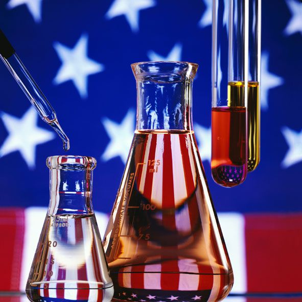 There are a lot of chemistry projects you can do to celebrate the 4th of July.