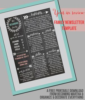 49 free christmas letter templates that youll love holiday family newsletter template from becoming martha spiritdancerdesigns Images