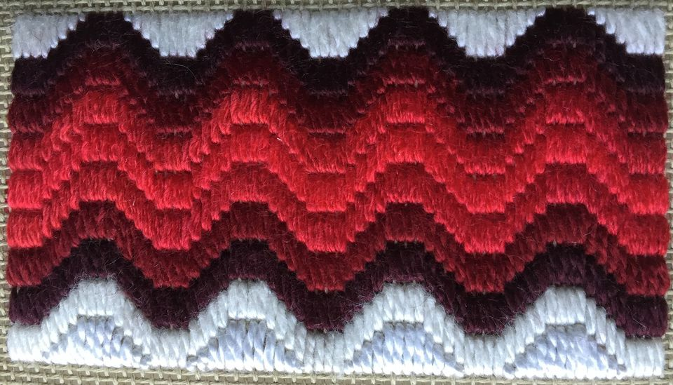 Wavy Bargello Needlepoint Border