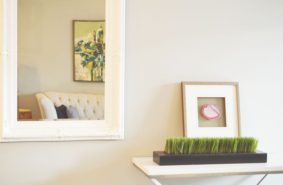 how to paint a non removable mirror frame - Mirror Picture Frame
