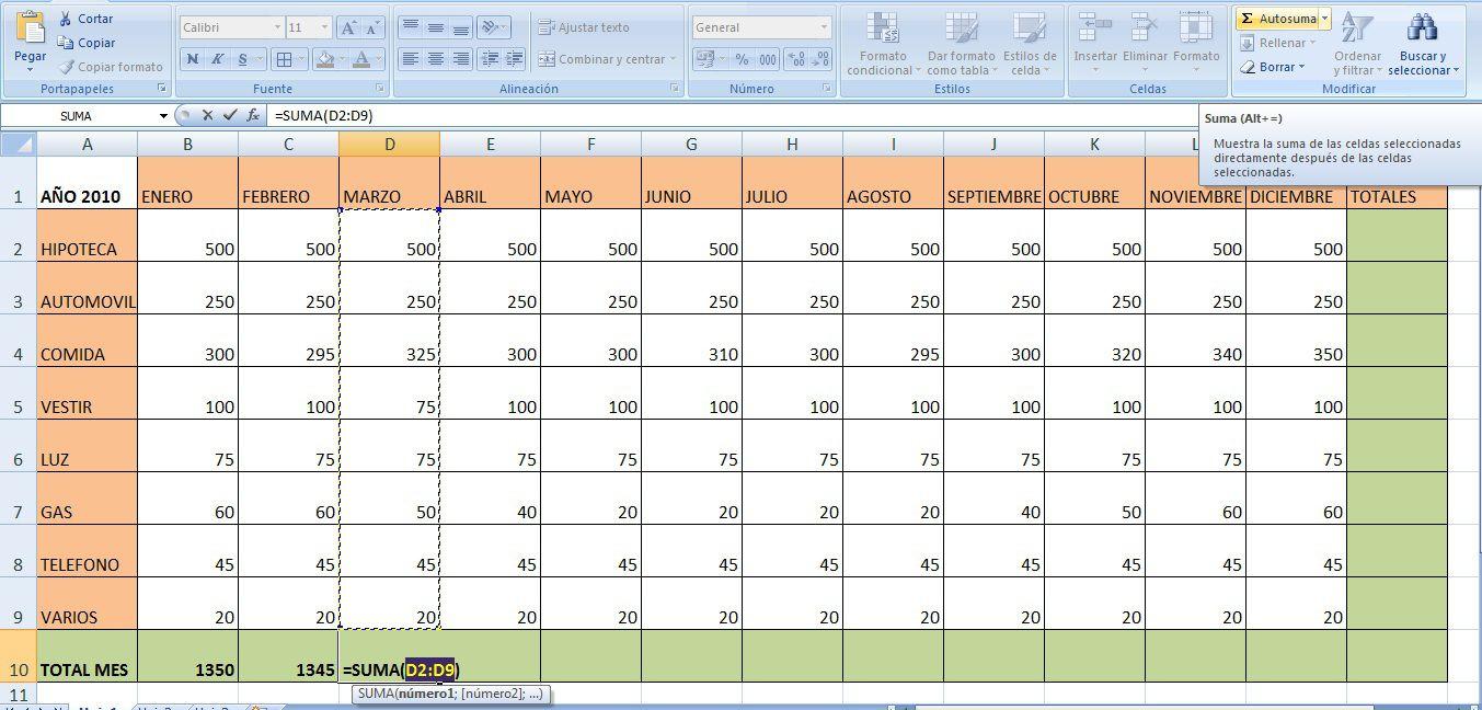 Excel crea tu hoja cálculo para controlar gastos