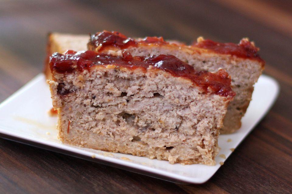 turkey meatloaf with cranberry glaze