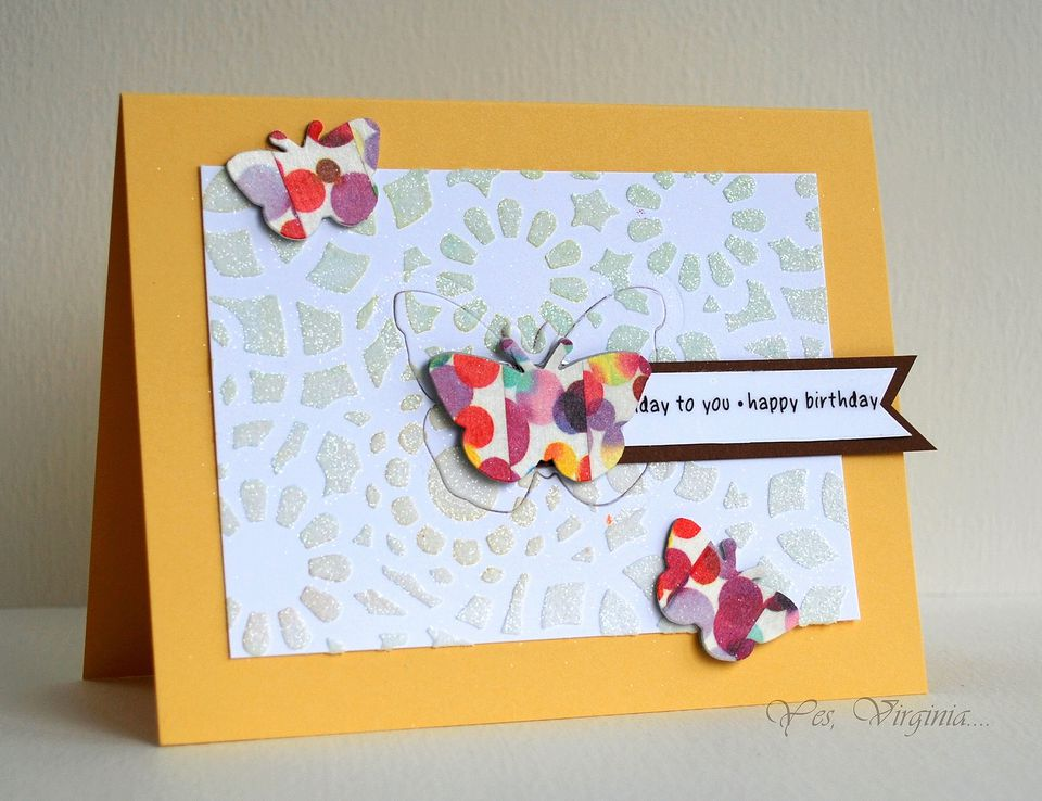 Embossing paste on greeting card
