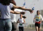 Race Volunteer at Water Stop
