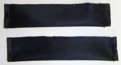 Photo of the sewn top bands.