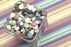 trail mix with m&ms