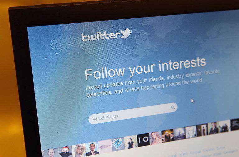 Twitter login page