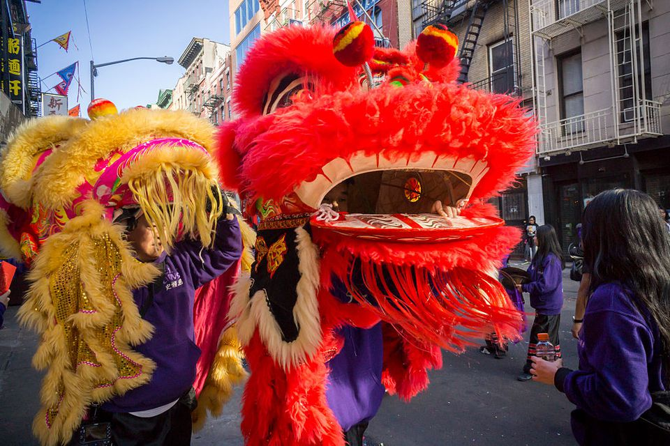 Tourists and New Yorkers of all races and nationalities crowd Chinatown in New York for the continuation of the Chinese New Year festivities on Saturday, February 20, 2016. The gala features dragon dancing troupes and other festivities ushering in the Year of the Monkey, 4714 in the Lunar calendar.