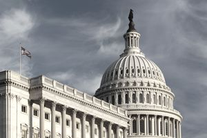 US Capitol Building at sunset, Washington DC, USA