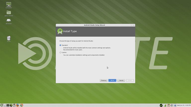 Android Studio Installation Type