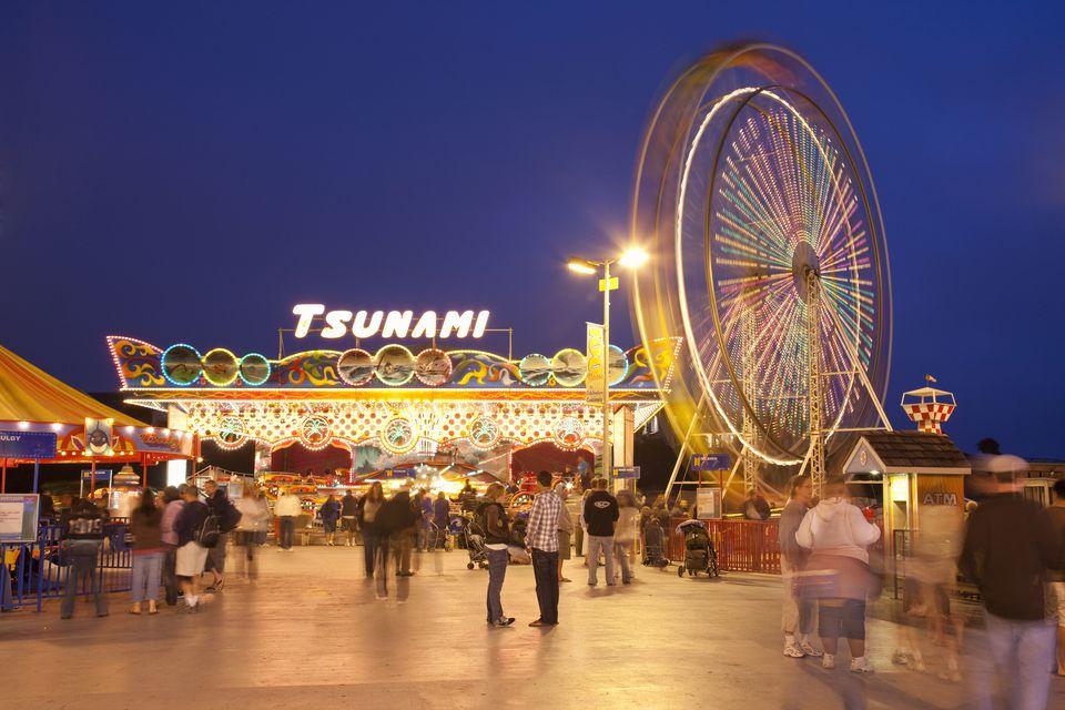 The funfair at the end of Santa Cruz Beach in Santa Cruz, Santa Cruz County in California, United States of America