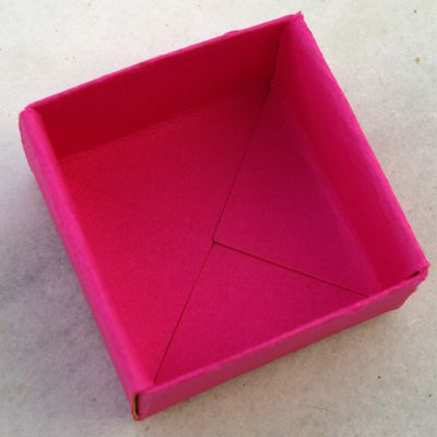 How to make a folded paper gift box more gift box and gift bag projects negle Choice Image