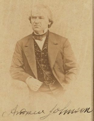 Image of Andrew Johnson, Vice-President of the United States during the Civil War.