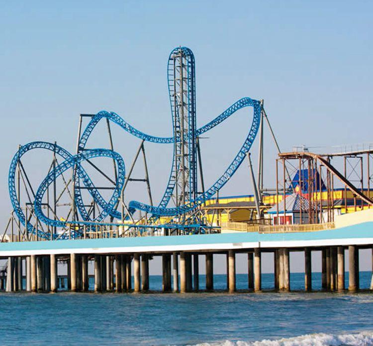 Galveston Island Iron Shark coaster