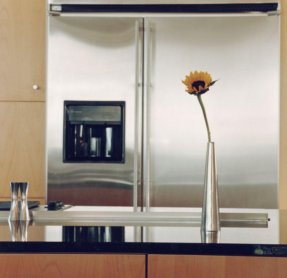 Flower Vase on Kitchen Counter