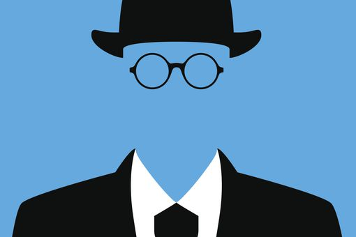 Close-up of faceless businessman