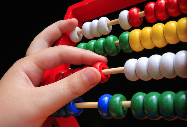 A base-10 abacus can be a great math teaching tool.