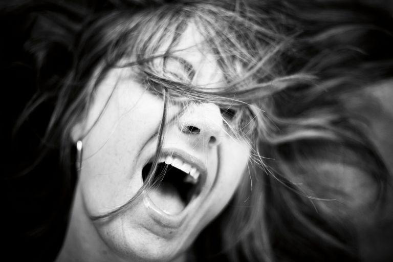 woman moaning
