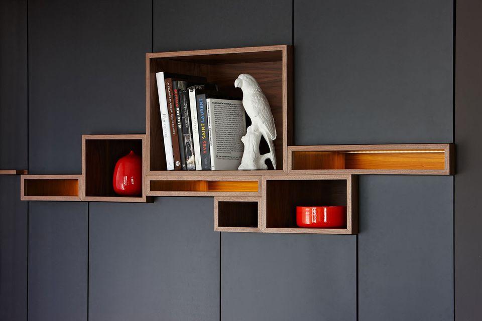 built-in book display