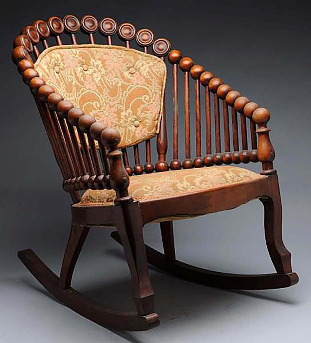 Lollipop Rocking Chair Made by George Hunzinger, ca. late 1800s