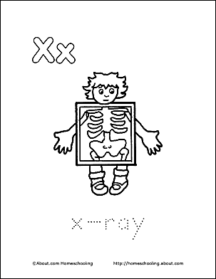 Print The Pdf X Ray Coloring Page And Color Picture Use Your Back Button To Return This Choose Next Printable Sheet