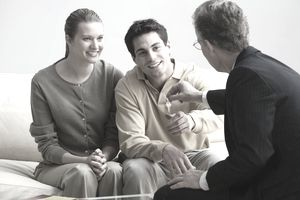 Young couple with consultant