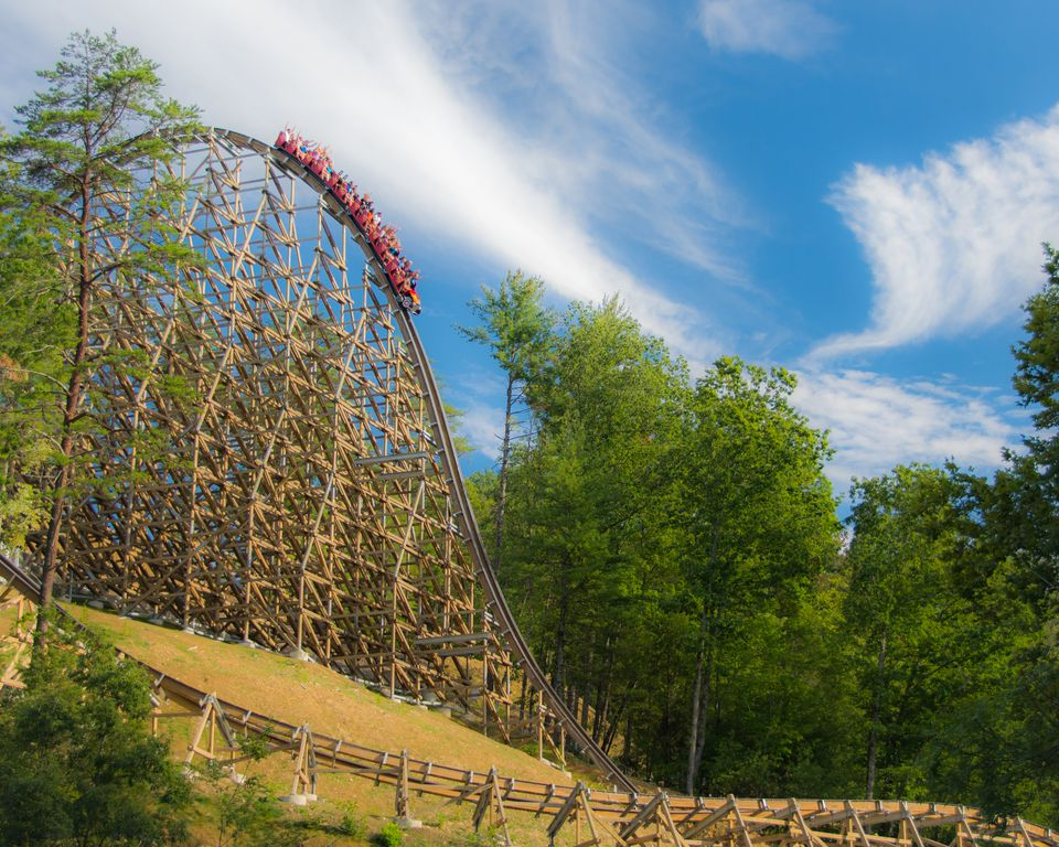 Lightning Rod coaster at Dollywood.