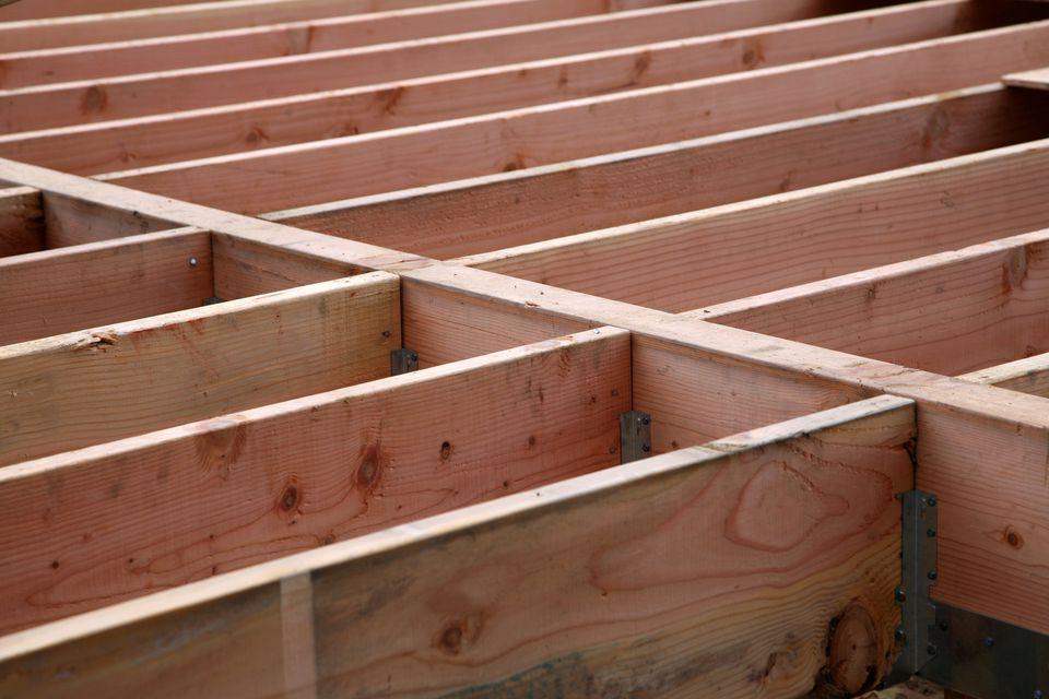 Image of a deck girder.