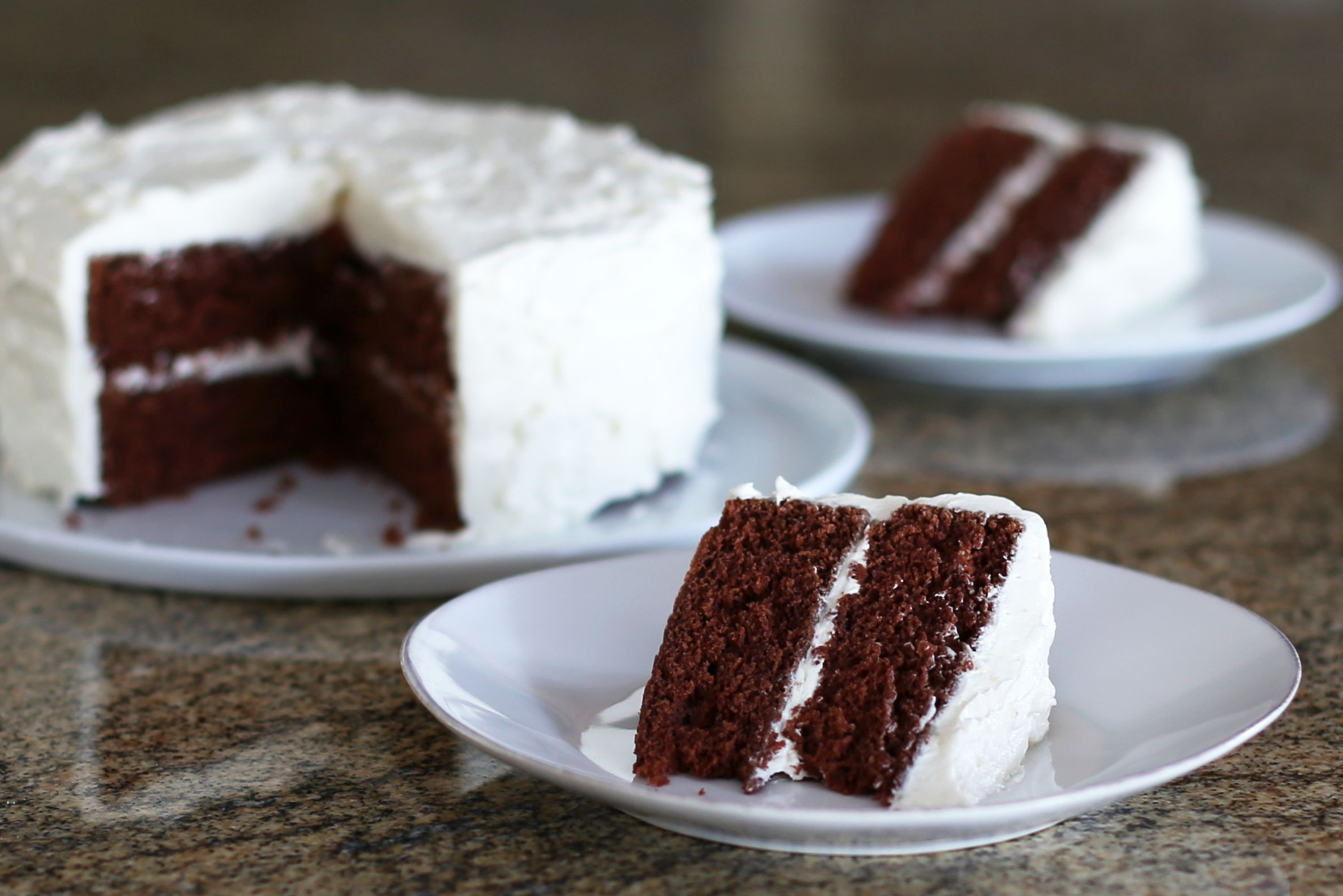 Classic Devil S Food Cake With Vanilla Frosting Recipe