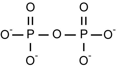 This is the chemical structure of the pyrophosphate anion, an example of a polyatomic ion.