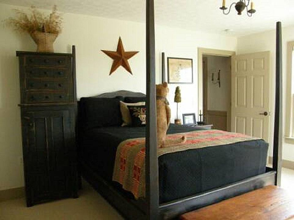 Primitive bedroom furniture.